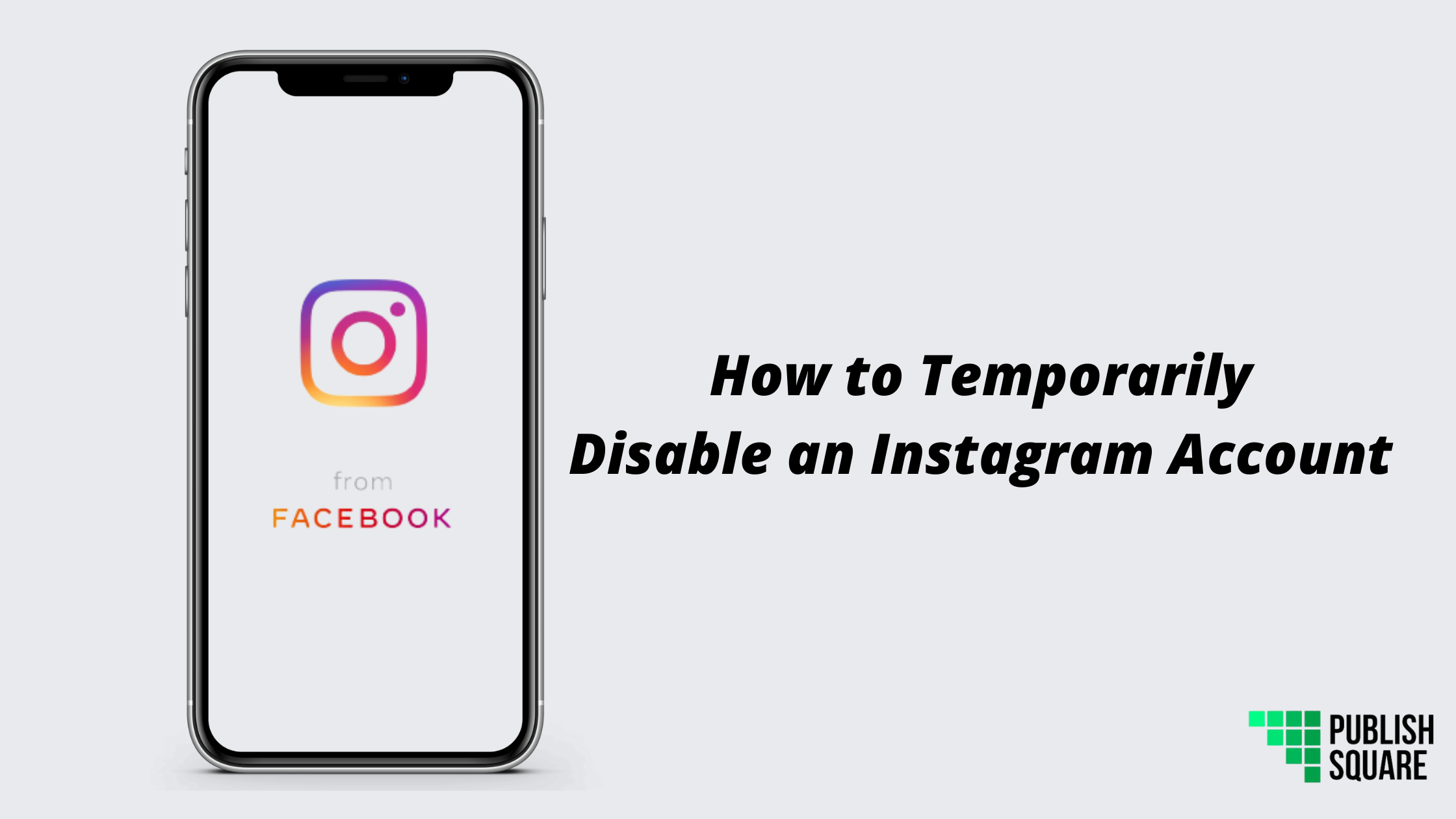 temporarily disable instagram account