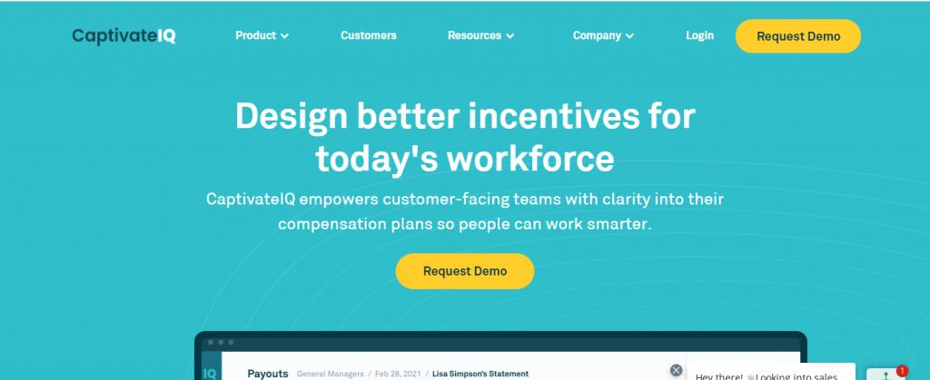 CaptivateIQ sales compensation software