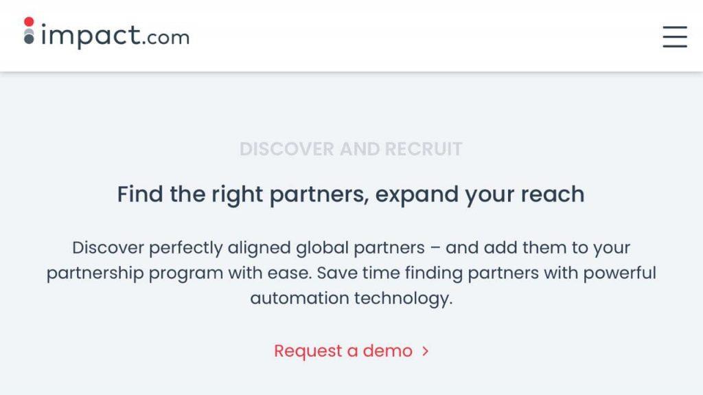 impact.com best affiliate marketing software