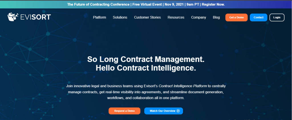 evisort contract analysis software