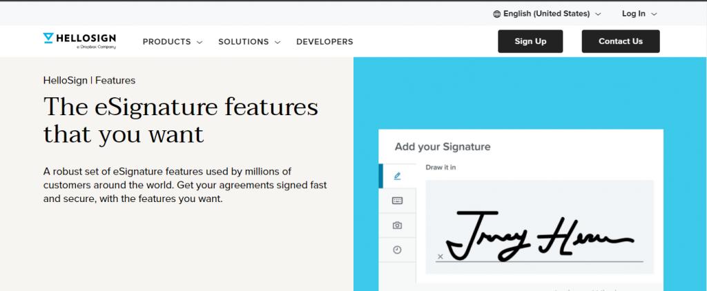 hellosign e signature software free