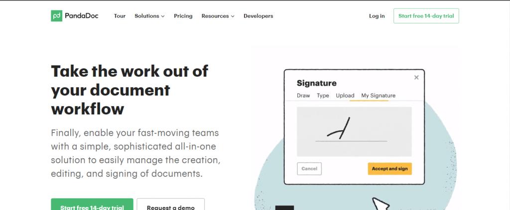 pandadoc e signature software free