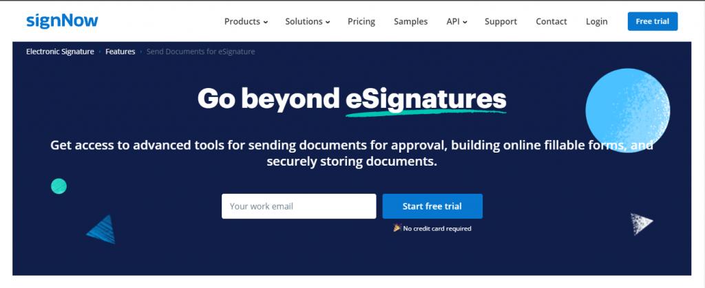 sign now e signature software free
