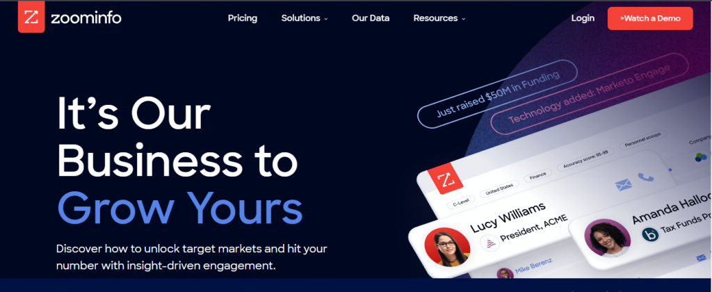ZoomInfo ai sales assistant software